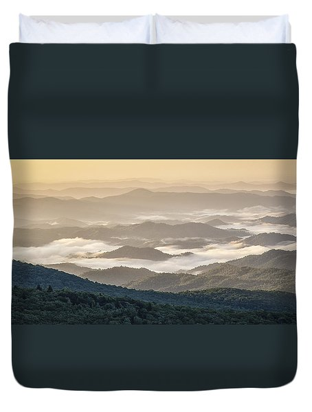 Mountain Valley Fog - Blue Ridge Parkway Duvet Cover