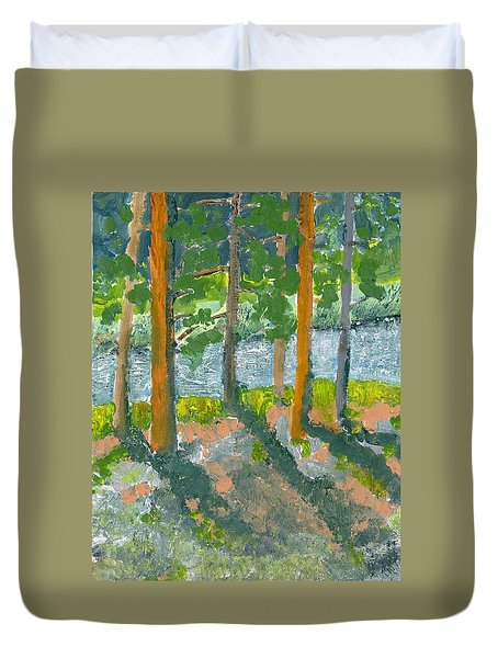 Mountain Valley Duvet Cover by Rodger Ellingson