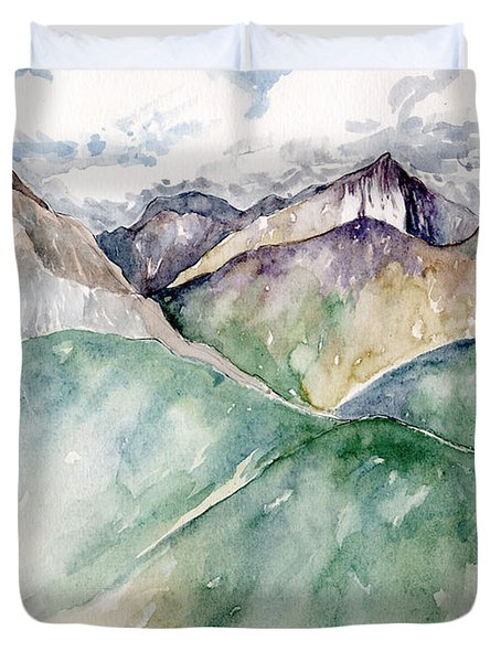Mountain View Colorado Duvet Cover
