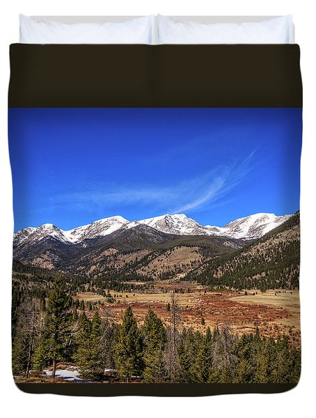 Mountain View From Fall River Road In Rocky Mountain National Pa Duvet Cover