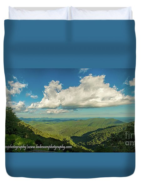 Mountain View From Preachers Rock Duvet Cover