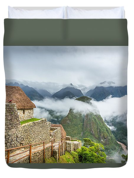 Duvet Cover featuring the photograph Mountain View. by Gary Gillette