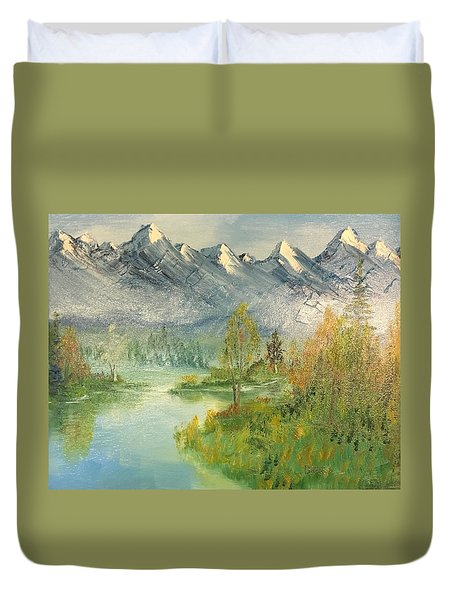 Mountain View Glen Duvet Cover