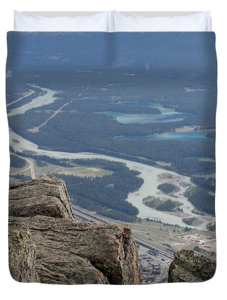 Duvet Cover featuring the photograph Mountain View by Mary Mikawoz