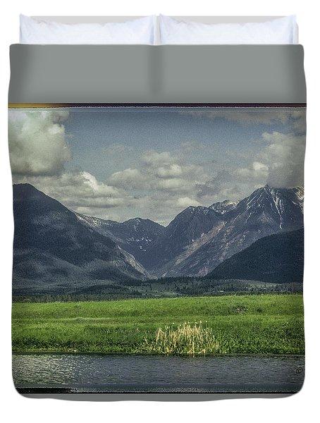 Mountain View Montana.... Duvet Cover