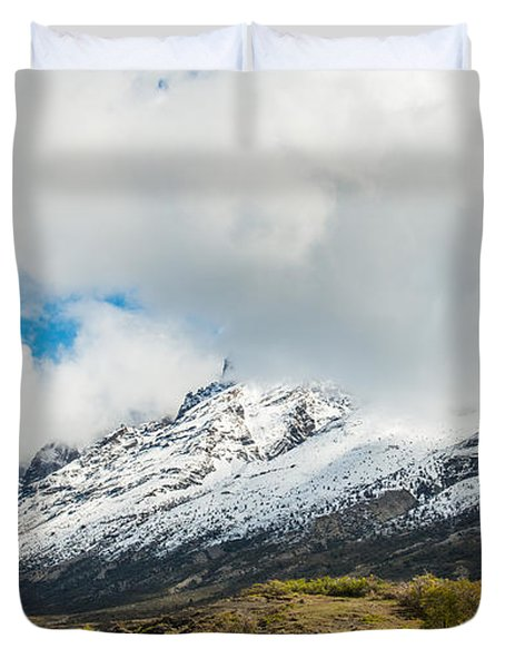Mountain View Patagonia Chile Duvet Cover