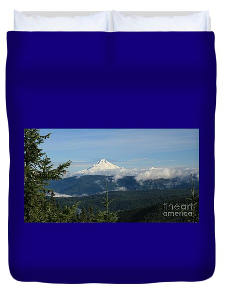 Mountain View Duvet Cover by Sheila Ping