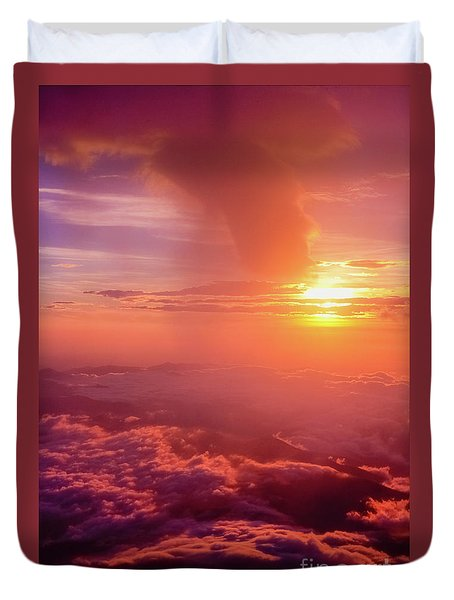 Duvet Cover featuring the photograph Mountain View by Tatsuya Atarashi