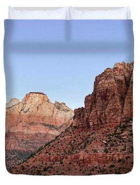 Mountain Vista At Zion Duvet Cover