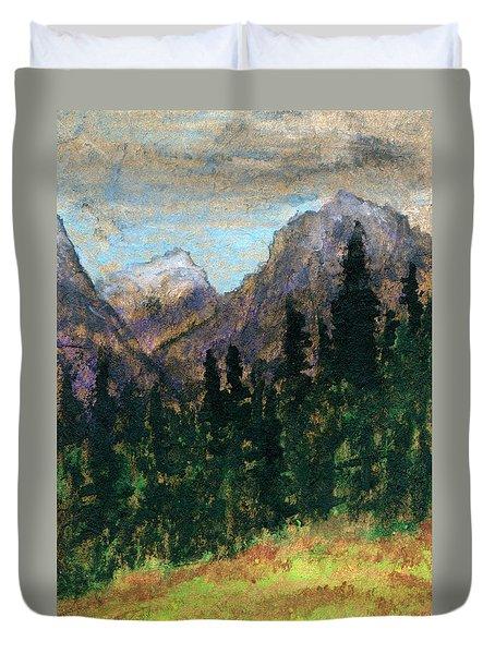 Mountain Vista Duvet Cover by R Kyllo