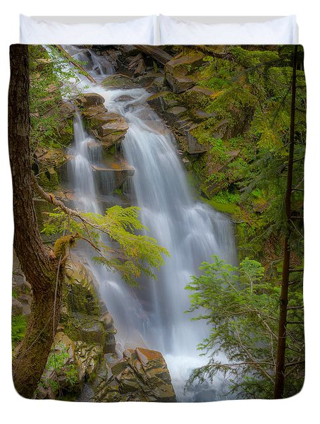 Mountain Waterfall 5613 Duvet Cover by Chris McKenna