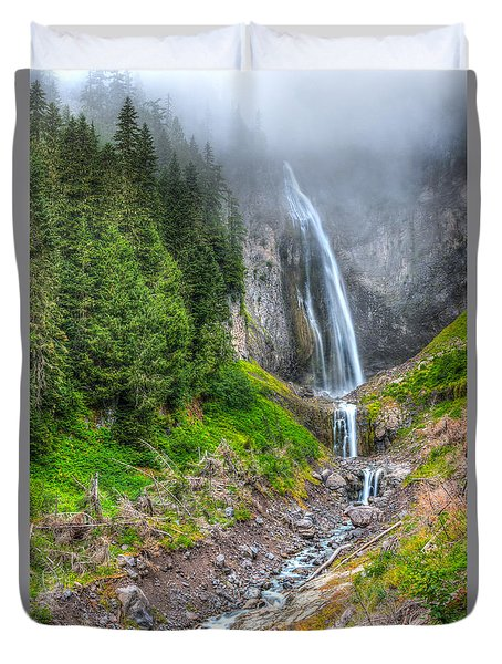 Mountain Waterfalls 5808 Duvet Cover by Chris McKenna