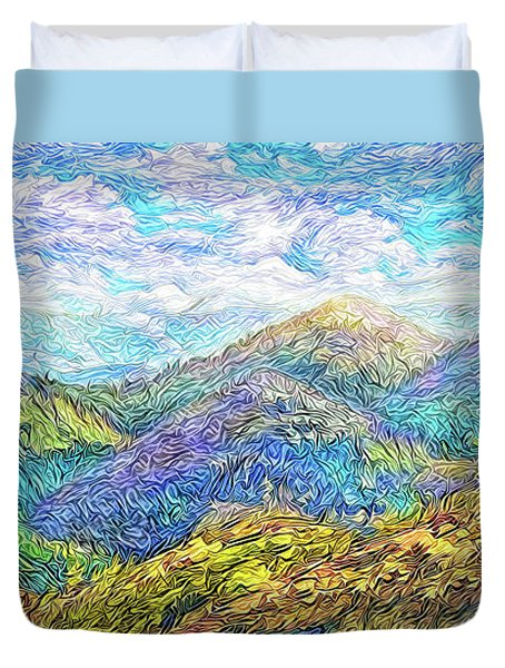 Mountain Waves - Boulder Colorado Vista Duvet Cover