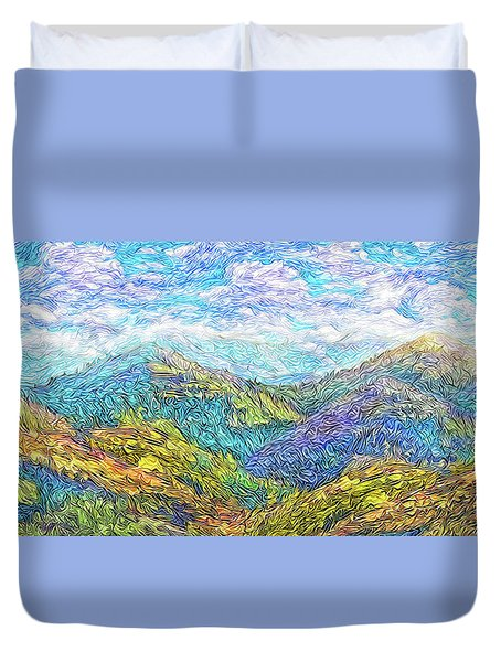 Mountain Waves - Boulder Colorado Vista Duvet Cover by Joel Bruce Wallach