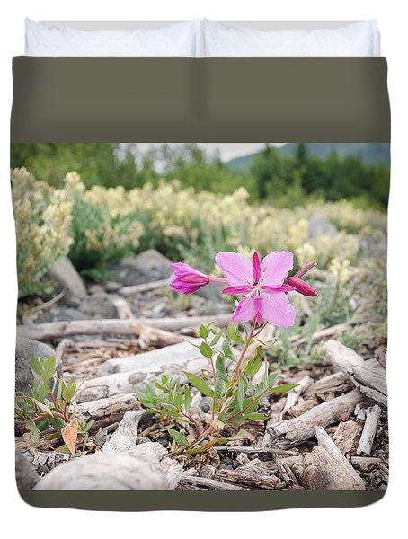 Mountain Wild Flowers Duvet Cover
