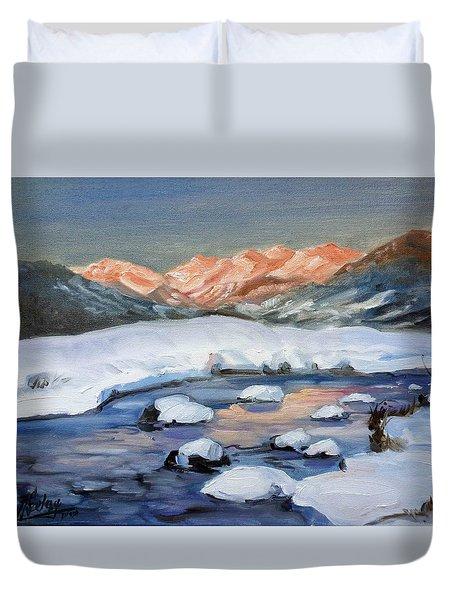 Mountain Winter Landscape 1 Duvet Cover