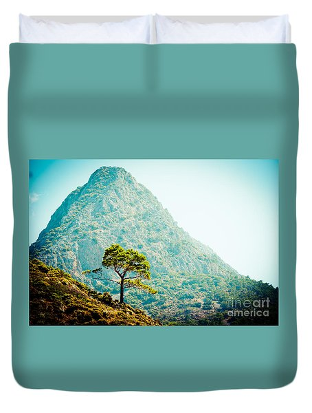 Mountain With Pine Artmif.lv Duvet Cover