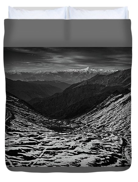 Mountaineers Dream Duvet Cover