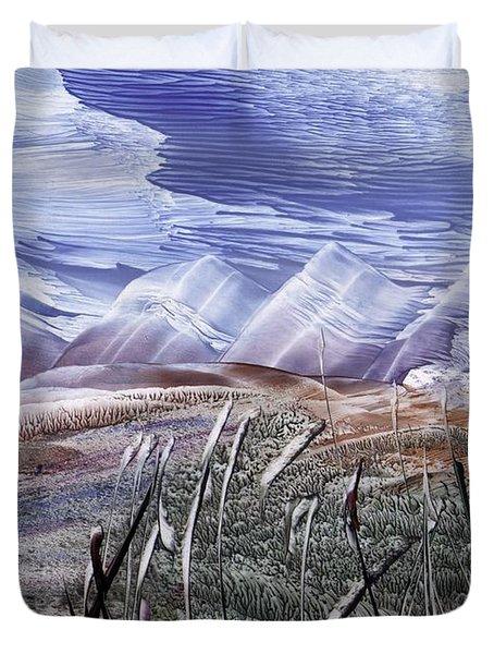 Mountainous Landscape Duvet Cover