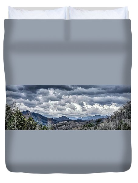 Duvet Cover featuring the photograph Mountains 1 by Walt Foegelle