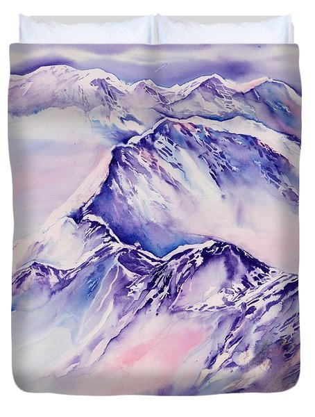 Mountains Above The Clouds No. 2 Duvet Cover