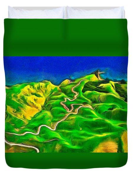 Mountains And Ocean - Da Duvet Cover