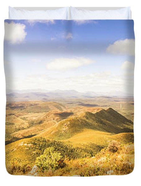 Mountains And Open Spaces Duvet Cover