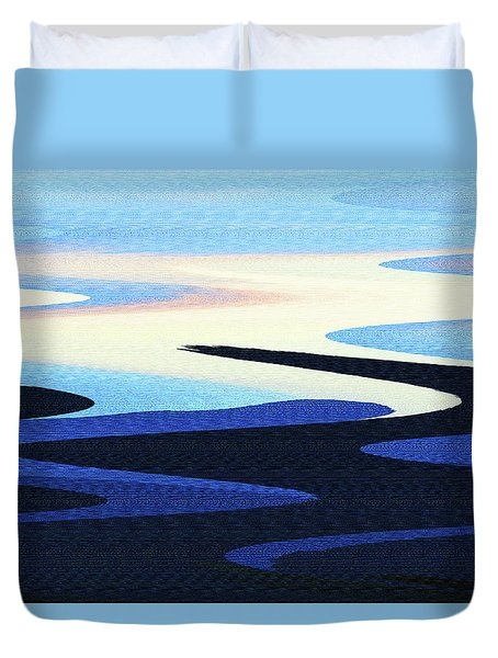 Mountains And Sky Abstract Duvet Cover