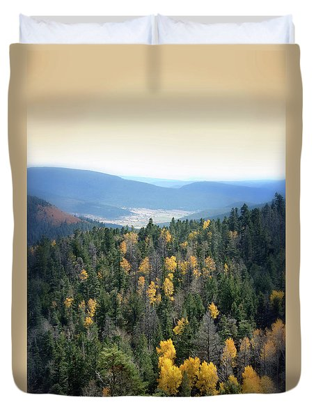 Duvet Cover featuring the photograph Mountains And Valley by Jill Battaglia