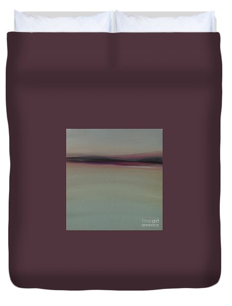 Mountains At Dawn Duvet Cover
