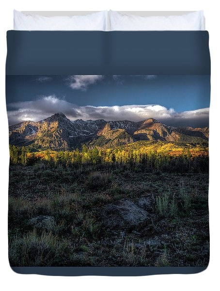 Mountains At Sunrise - 0381 Duvet Cover