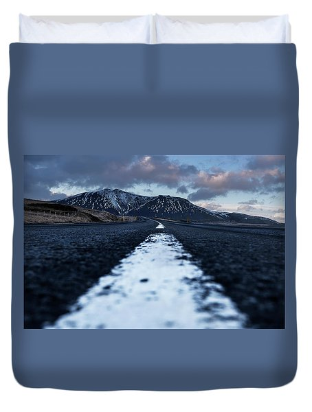 Duvet Cover featuring the photograph Mountains In Iceland by Pradeep Raja Prints