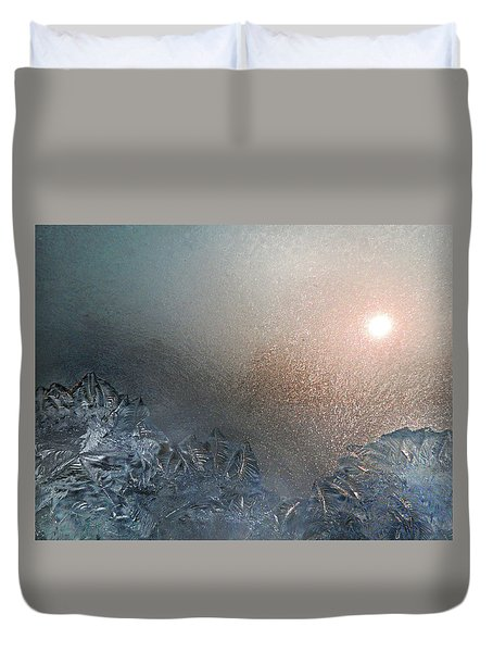 Mountains Of Frost Duvet Cover