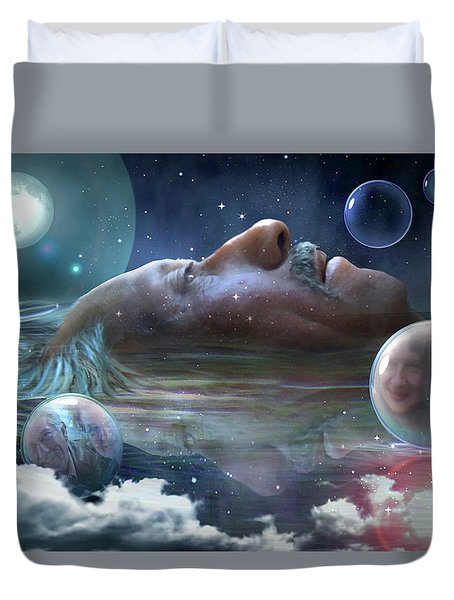 Mountains Of Memories Duvet Cover