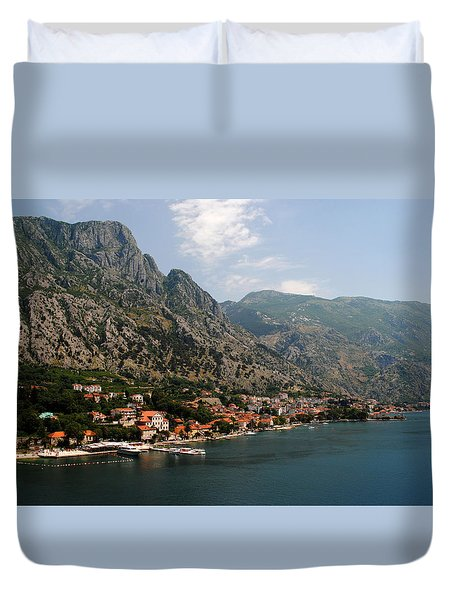 Mountains Of Montenegro Duvet Cover by Robert Moss