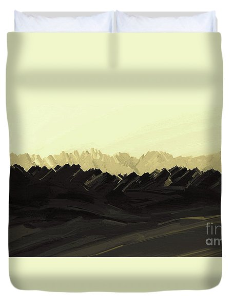 Mountains Of The Mohave Duvet Cover