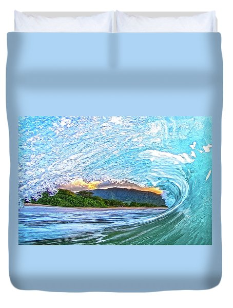Mountains To The Sea Duvet Cover