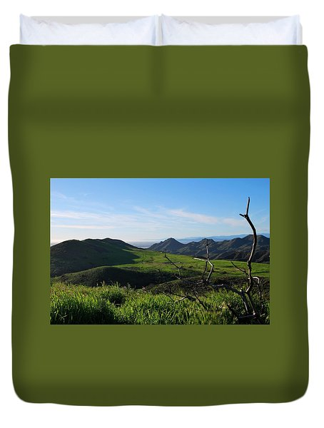 Duvet Cover featuring the photograph Mountains To Valley View by Matt Harang