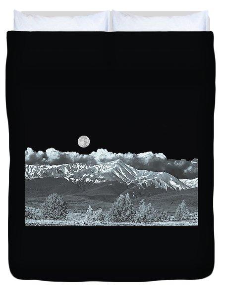 Mountains, When High Enough And Tough Enough, Measure Men.  Duvet Cover by Bijan Pirnia