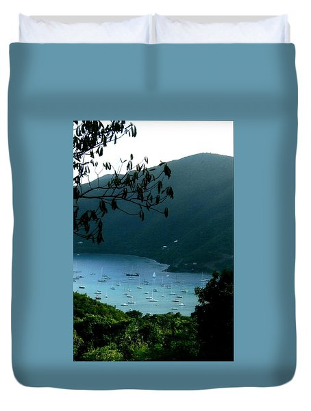 Mountainside Coral Bay Duvet Cover by Robert Nickologianis