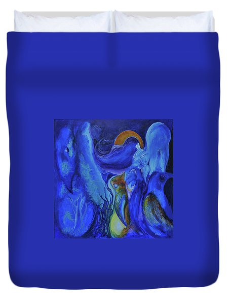 Mourning Birds Of The Final Flower Duvet Cover