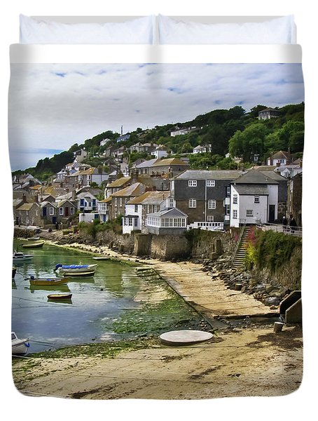 Mousehole Harbour, Cornwall Duvet Cover