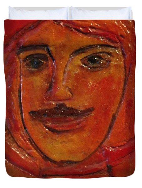 Moustached Prince Duvet Cover