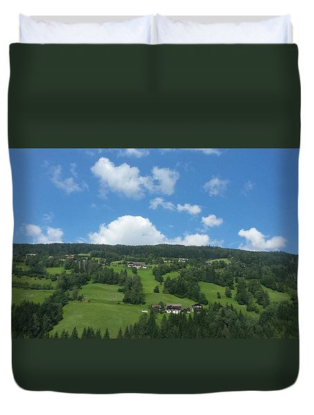 Moutain With Blue Sky Duvet Cover