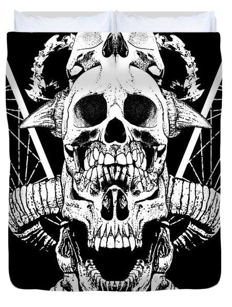 Mouth Of Doom Duvet Cover