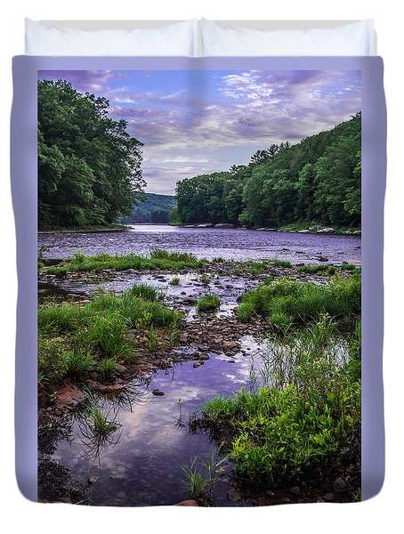 Mouth Of Maple Creek Duvet Cover by Anthony Thomas