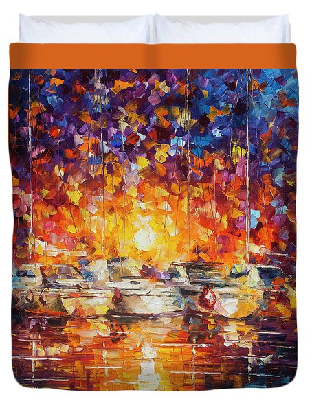Movement Of The Sea Duvet Cover by Leonid Afremov