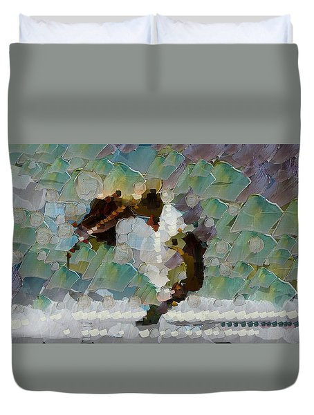 Movement Theory - Ballerina Duvet Cover