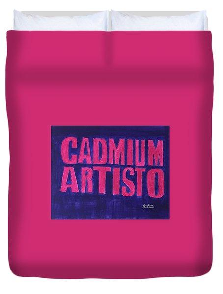 Movie Logo Cadmium Artisto Duvet Cover by Joshua Maddison