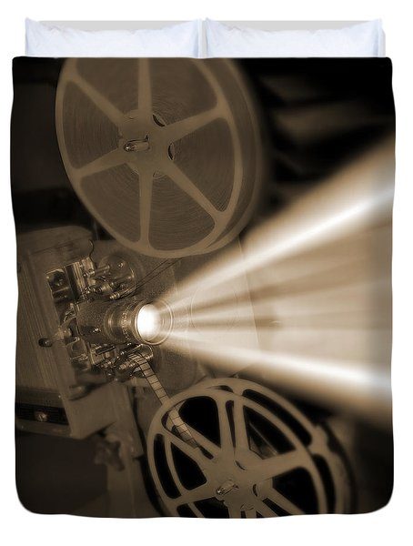Movie Projector  Duvet Cover by Mike McGlothlen
